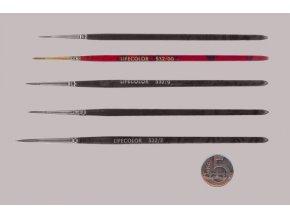 532-00 Okrúhly štetec LifeColor Pure red sable s dlhým vlasom