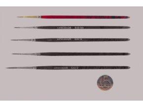 532-000 Okrúhly štetec LifeColor Pure red sable s dlhým vlasom