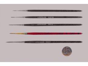 532-1 Okrúhly štetec LifeColor Pure red sable s dlhým vlasom
