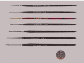 542-0 Okrúhly štetec LifeColor Pure red sable s krátkym vlasom