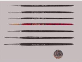 542-1 Okrúhly štetec LifeColor Pure red sable s krátkym vlasom