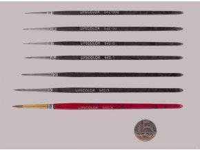 542-4 Okrúhly štetec LifeColor Pure red sable s krátkym vlasom