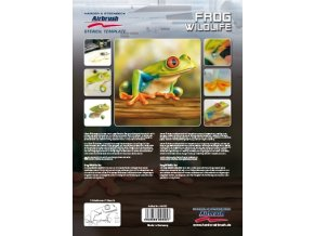 Airbrush šablóna- žaba