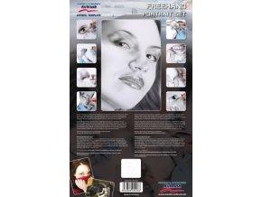 Airbrush šablóna- portrét