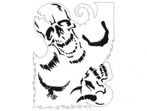 Airbrush šablóna lebky/skull B003