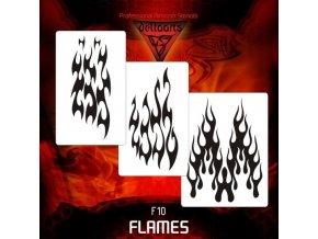 airbrush šablóna plamene FL10