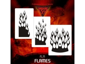 airbrush šablóna plamene FL11