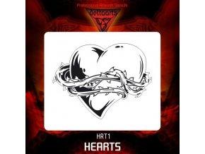 Airbrush šablona hearts hrt1 mid