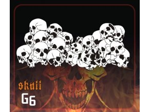 Airbrush šablona Group of skulls g6 mini