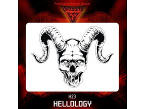 Airbrush šablona Hellology h23 mid