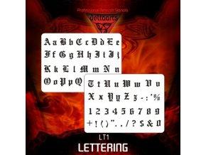 Airbrush šablona Lettering lt1