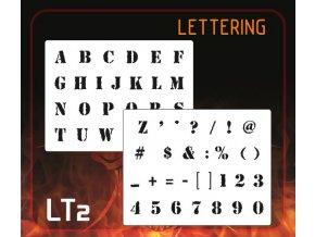 Airbrush šablona Lettering lt2