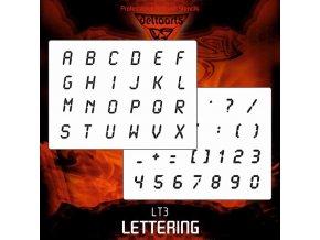 Airbrush šablona Lettering lt3