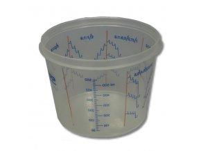 Radex miešací kelímok s vrchnákom 385ml