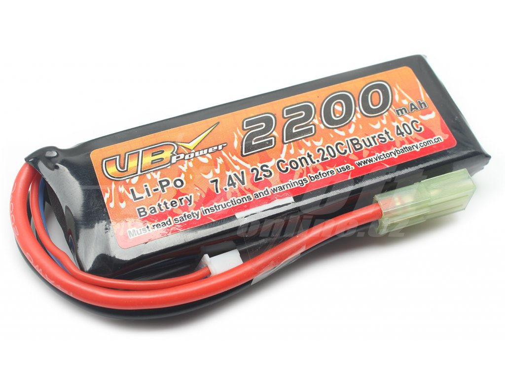 Li-Pol akumulátor VB Power 7,4V 2200mAh 20C