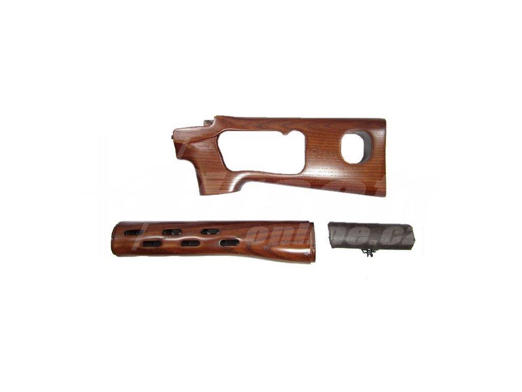 Dřevěný set s lícnicí pro manuální SVD, Aimtop