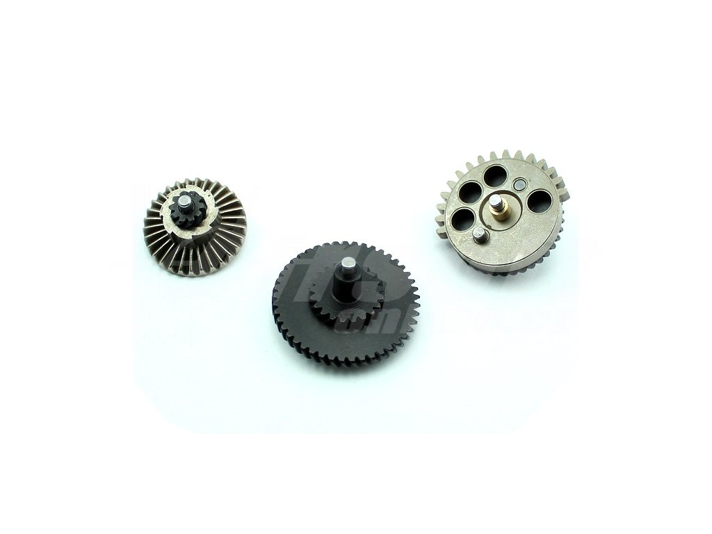 Sada zátěžových CNC kol 100:200, šikmé ozubení, Airsoftpro