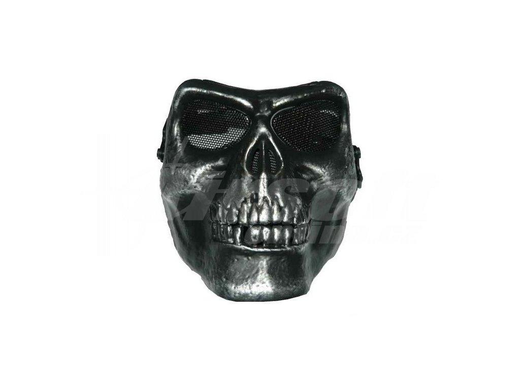 Maska M02 platinovaná, černá, A.C.M.