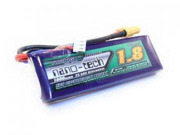Li-Pol akumulátor Turnigy nano-tech 7,4V 1800mAh 25-50C