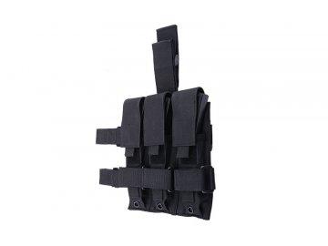 Trojitá stehenní sumka na zásobníky pro MP5 - černá, GFC