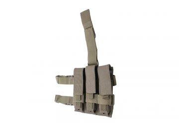 Trojítá stehenní sumka na zásobníky pro MP5 - olivová, GFC