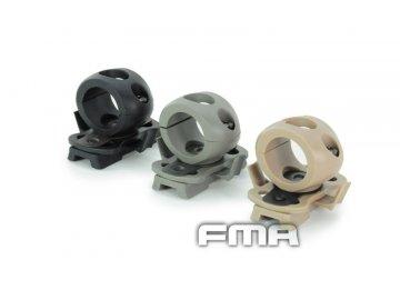 Montáž na svítilnu -  průměr 21mm pro helmu OPS FAST - Foliage green, FMA