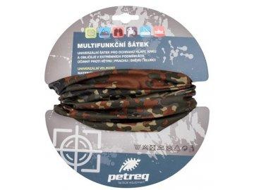 Šátek multifunkční Petreq - BW Flecktarn