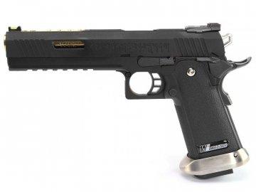 """Airsoftová pistole Hi-Capa 6"""" IREX - černá, zlatá hlaveň, GBB, WE"""