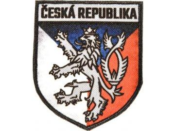 Textilní nášivka erb ČR - barevná, Army