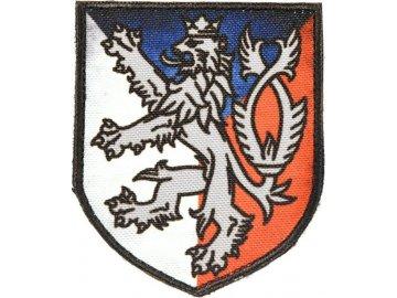 Textilní nášivka erb Český lev - barevná, Army