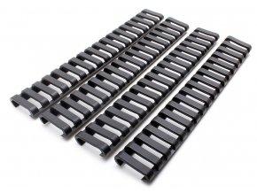Gumové krytky na RIS lištu - 4 kusy, černé, A.C.M.