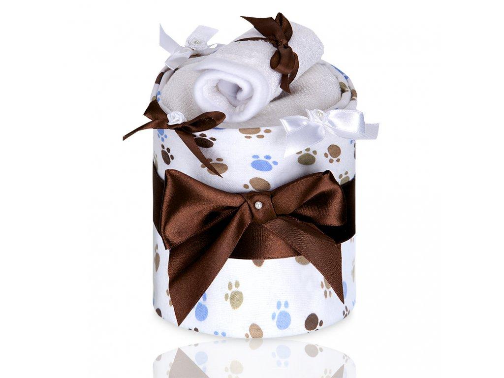 T-TOMI Plenkový dort LUX, small white paws / malé bílé tlapky