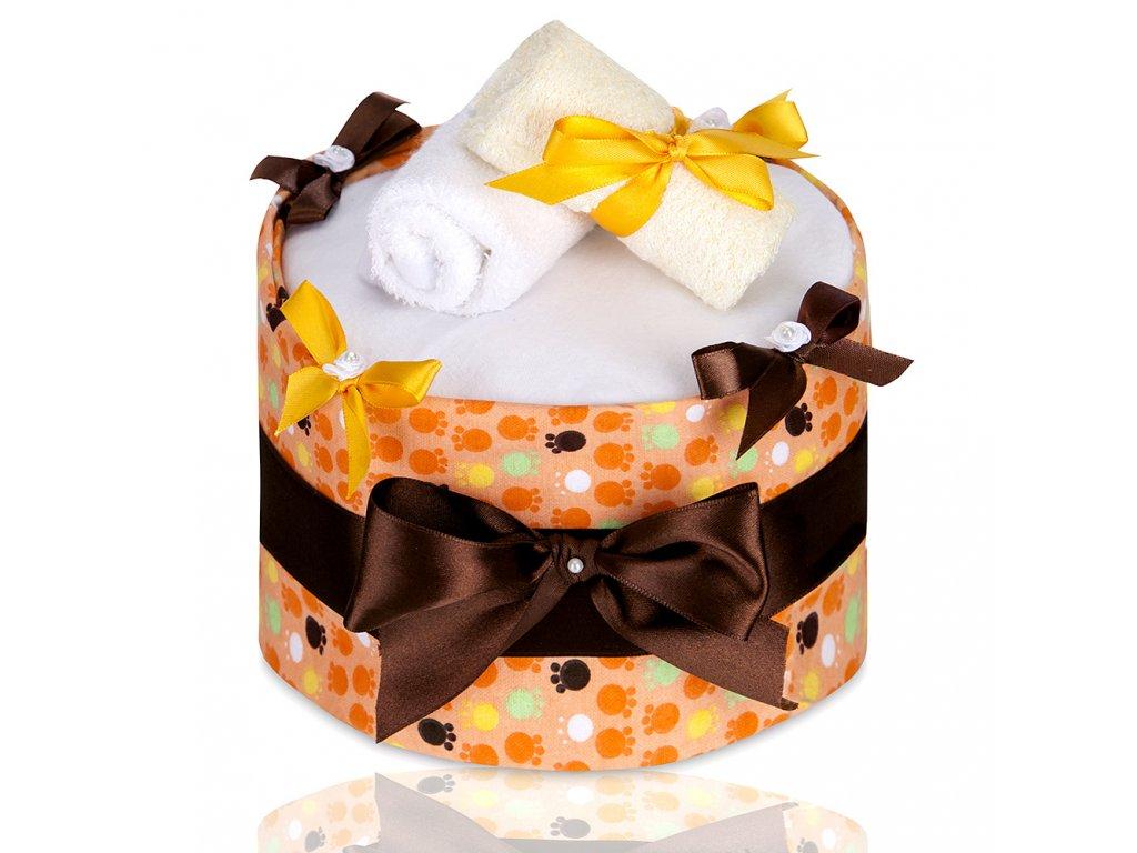 T-TOMI Plenkový dort LUX, large orange paws / velké oranžové tlapky