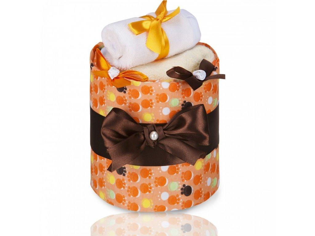 T-TOMI Plenkový dort LUX, small orange paws / malé oranžové tlapky