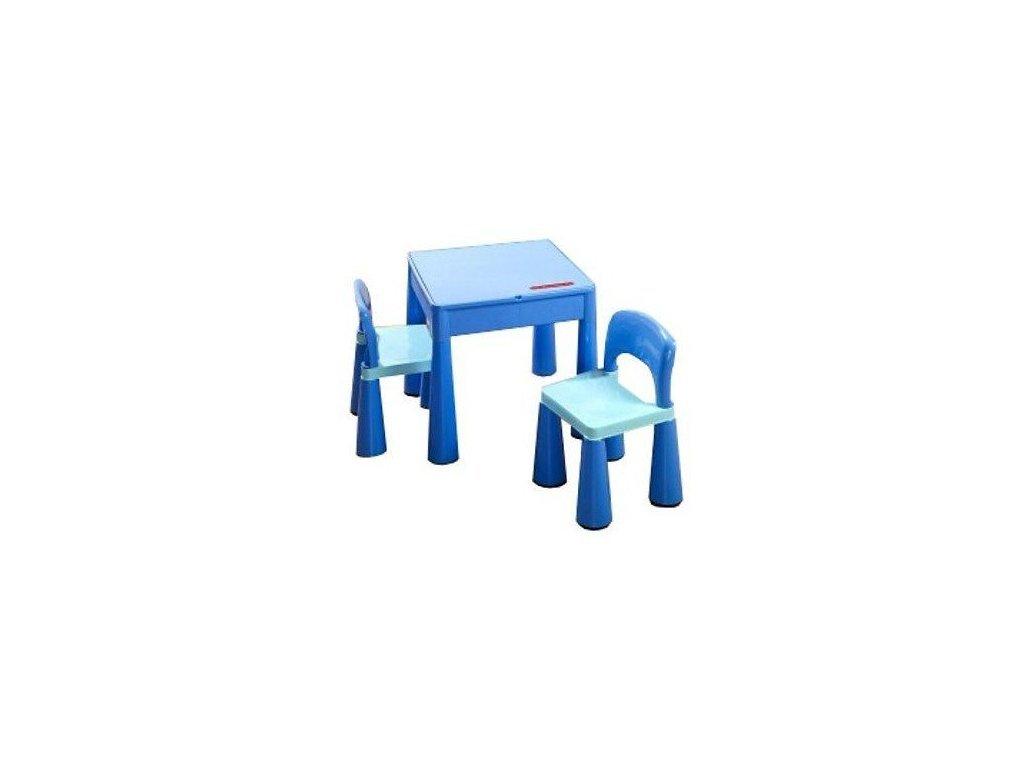 Tega Mamut dětská sada stoleček a dvě židličky modrá