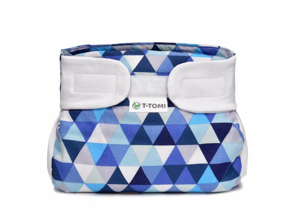T-TOMI Ortopedické abdukční kalhotky - suchý zip, blue triangles (5-9kg)