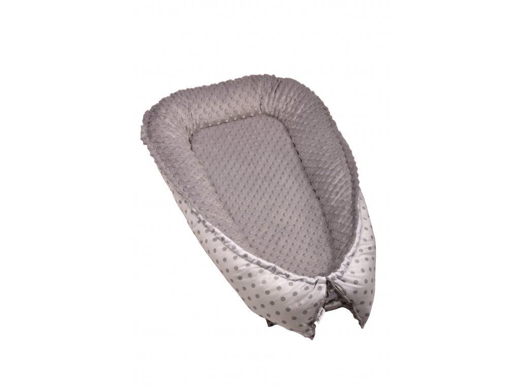T-TOMI Hnízdečko pro miminko MINKY, white / grey dots