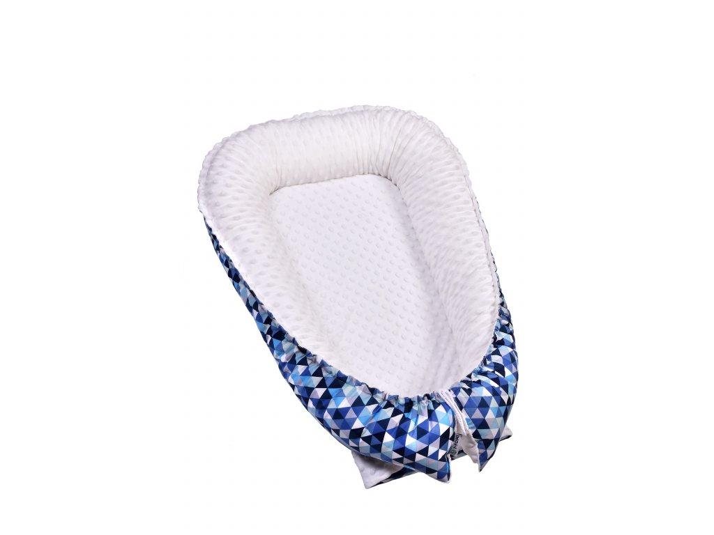 T-TOMI Hnízdečko pro miminko MINKY, blue triangles