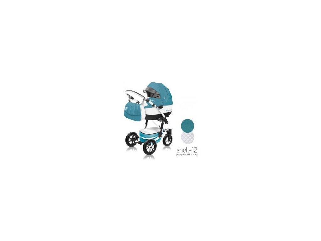 Baby Active Kočárek 3v1 Shell Eko 2021 12