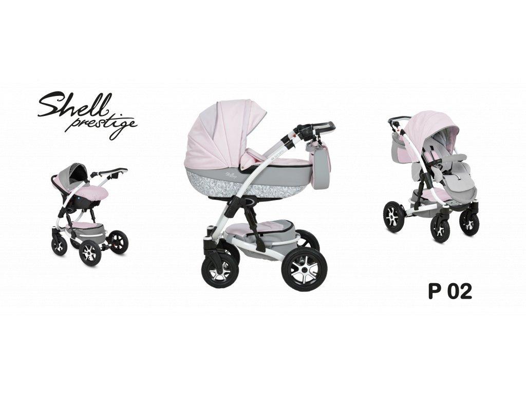 kočárek Baby Active 3v1 Shell Prestige 2021 02