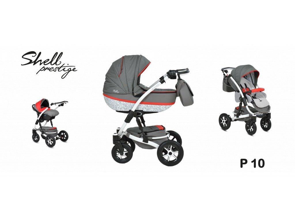 kočárek Baby Active 3v1 Shell Prestige 2021 09