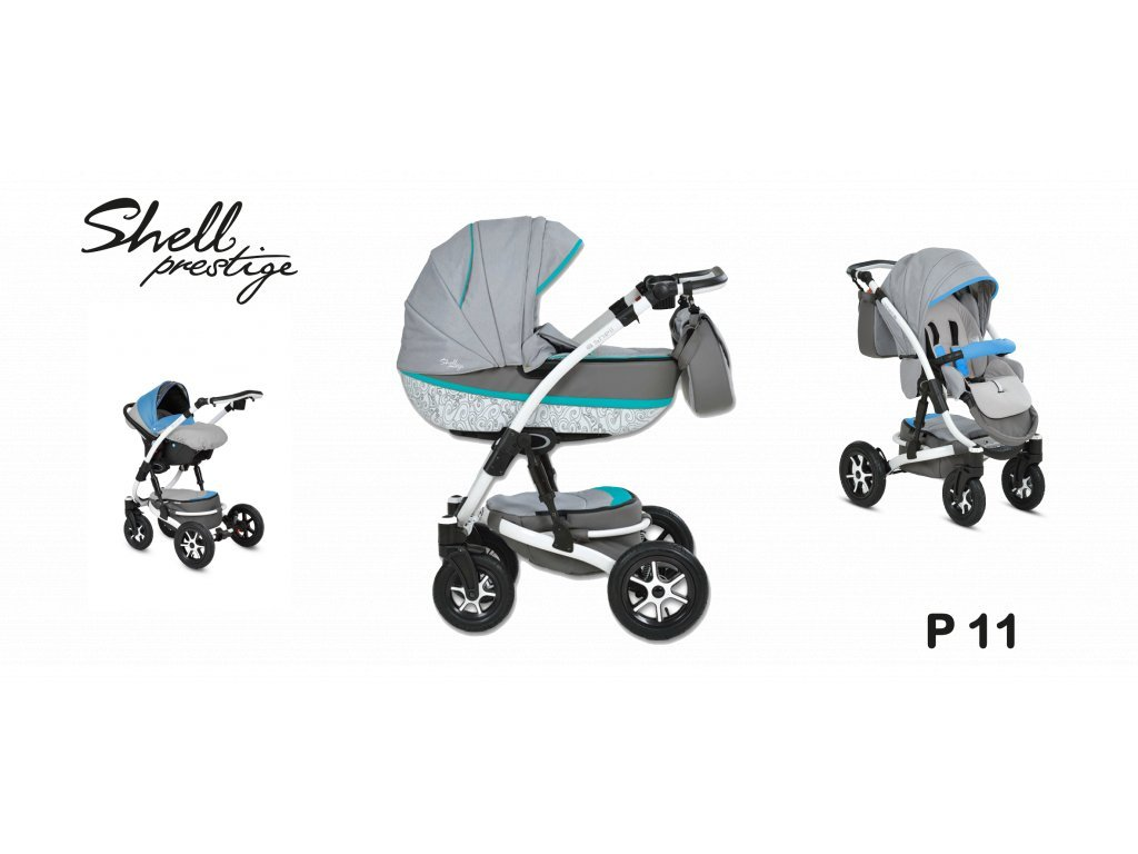 kočárek Baby Active 3v1 Shell Prestige 2021 11