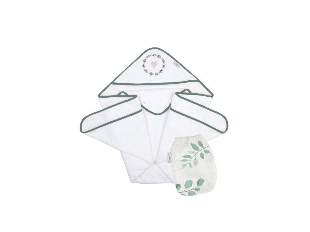 Okrycie niemowlęce z myjką muślinową Savanna N002