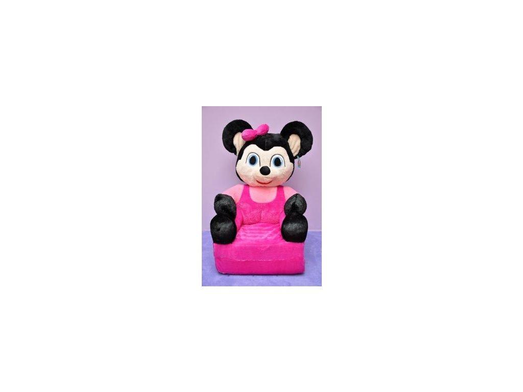 Dětské plyšové křesílko Smyk 2v1 Minnie