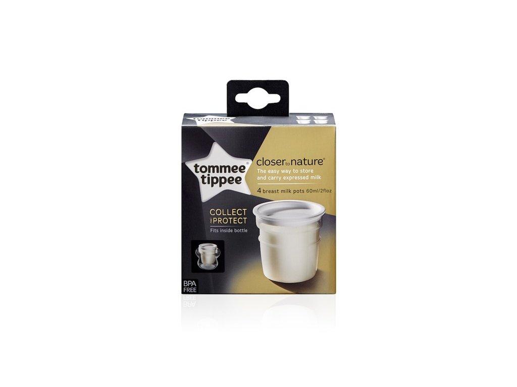 Tommee Tippee Nádobky na skladování mat. mléka C2N, 4ks 0+m