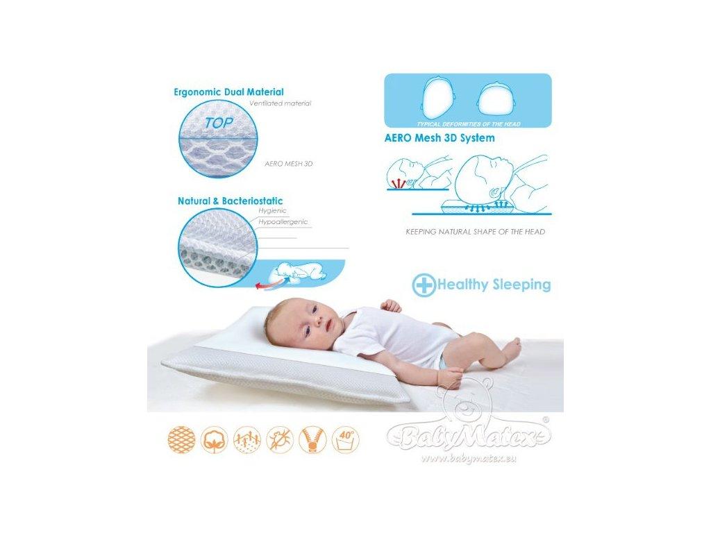 Baby Matex dětský polštář AERO 3D (varianta 0328  27x36)