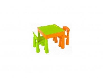 Tega Mamut dětská sada stoleček a dvě židličky zelená