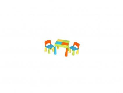 Tega Mamut dětská sada stoleček a dvě židličky multicolor