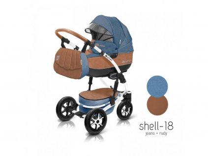 Baby Active Kočárek 3v1 Shell Eko 2021 18