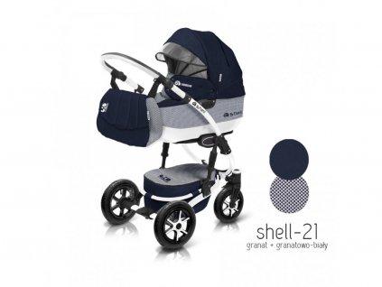 Baby Active Kočárek 3v1 Shell Eko 2021 21